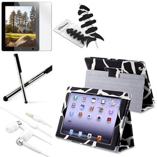BasAcc BasAcc Case/ LCD Protector/ Stylus/ Headset/ Wrap for Apple iPad 2/ 3/ 4