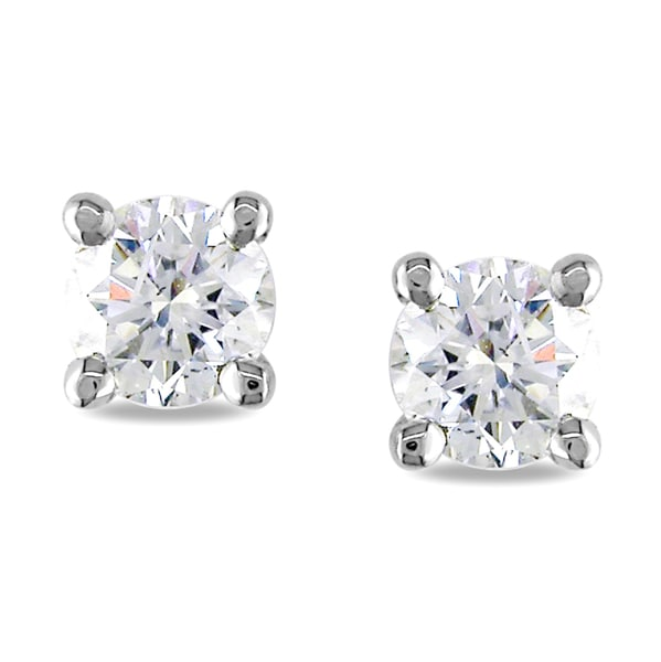 Miadora 18k White Gold 3/4ct TDW Diamond Earrings (F-G, I1-I2)
