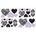 Sweet JoJo Designs Purple Funky Zebra Wall Decal Stickers (Set of 4)