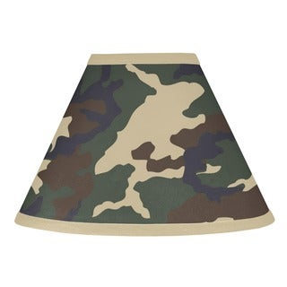 Sweet JoJo Designs Green Army Camouflage Lamp Shade