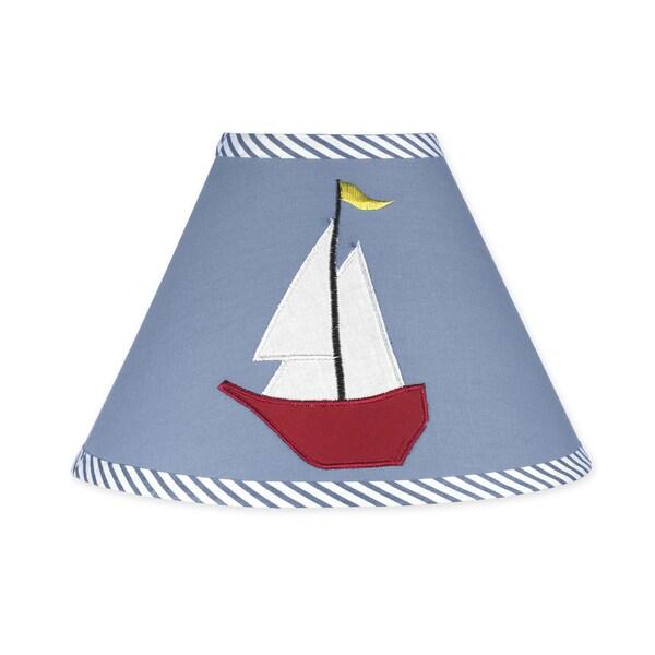 Sweet JoJo Designs Come Sail Away Nautical Lamp Shade