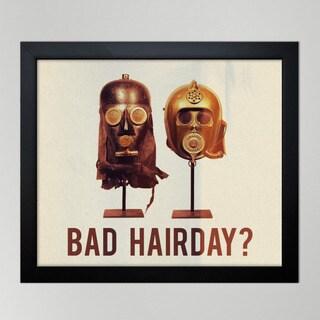 Oliver Gal 'Bad Hair Day' Framed Print Art