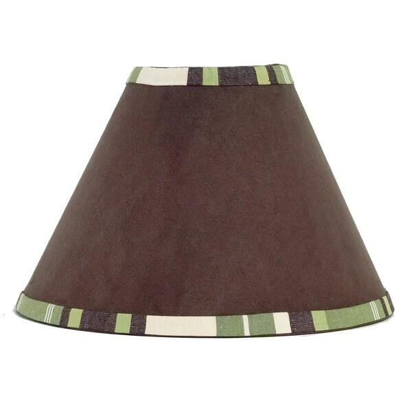 Sweet JoJo Designs Green and Brown Ethan Modern Lamp Shade