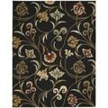 Hand-tufted In Bloom Black Floral Wool Rug (7'6 x 9'6)