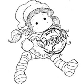 A Christmas Story Cling Stamp-Crunching Tilda