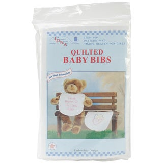 Stamped 'Thank Heaven Girls' White Bibs (Pack of 2)