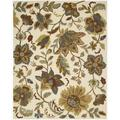 "Hand-Tufted In Bloom Ivory Wool Area Rug (5'3"" x 7'4"")"