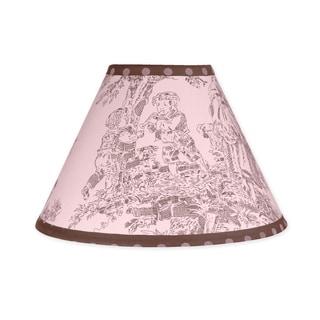 Sweet JoJo Designs Pink and Brown Toile and Polka Dot Lamp Shade