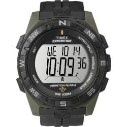 Timex Men's T49852 Expedition Rugged Digital Vibration Alarm Green/Black Watch
