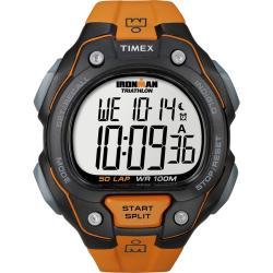 Timex Men's T5K493 Ironman Traditional 50-Lap Orange/Black Watch