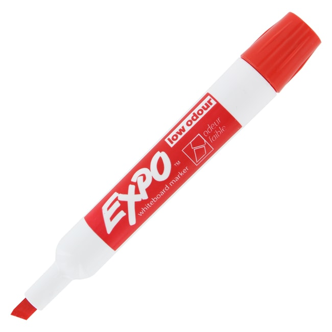 Expo Red Low Odor Chisel Dry Erase Whiteboard Markers (Pack of 12)