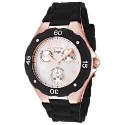 Invicta Women's Angel White Dial Black Silicon Watch