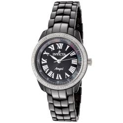 Invicta Women's Angel Black Dial Black Ceramic Watch