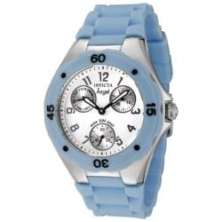 Invicta Women's Angel White Dial Baby Blue Silicon Watch