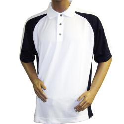 FootJoy Men's ProDry Pique White/ Navy Sport Golf Shirt