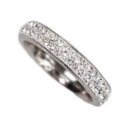 NEXTE Jewelry Stainless Steel Stackable Cubic Zirconia Eternity Band
