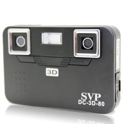 SVP DC-3D-80 Black 3D Digital Camera with 2GB SD Card