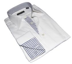 White Shirt Dress on Domani Blue Label Mens White French Cuff Dress Shirt   Overstock Com