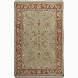 Hand-knotted Mandara New Zealand Wool Rug (5' x 8')