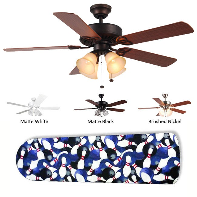 New Image Concepts 4-light 'Lucky Strike Bowling' Ceiling Fan