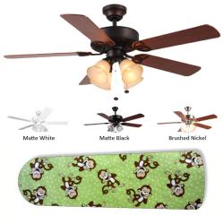 New Image Concepts 4-light 'Monkey Around' Ceiling Fan