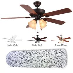 New Image Concepts 4-light 'Music to My Ears' Ceiling Fan