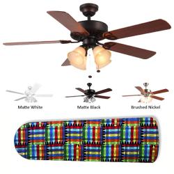 New Image Concepts 4-light 'Crazy Crayons' Ceiling Fan