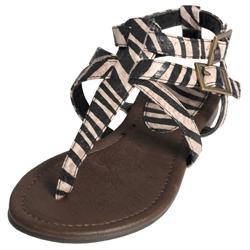 Journee Collection Girl's 'Trish-2s' Zebra T-strap Sandals