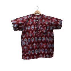 Men's Cotton XL Embroidered African Dashiki (Ghana)