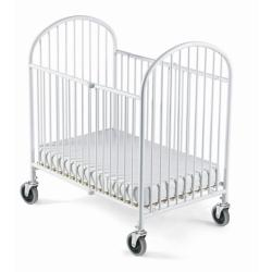 Foundations Pinnacle White Folding Steel Compact Crib