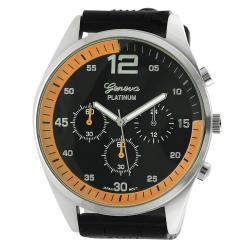 Geneva Platinum Men's Chronograph-style Silicone Watch