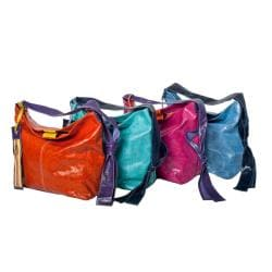 WE-GO by Mania Multicolor Leather Medium Bucket Bag