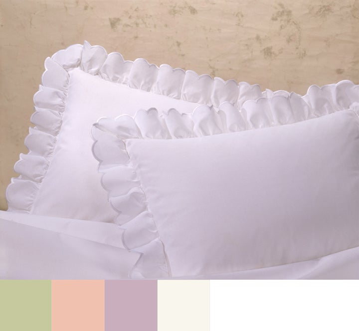 Embroidered Scalloped Euro Pillow Sham