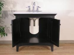 Marble Top 38-inch Single Sink Bathroom Vanity