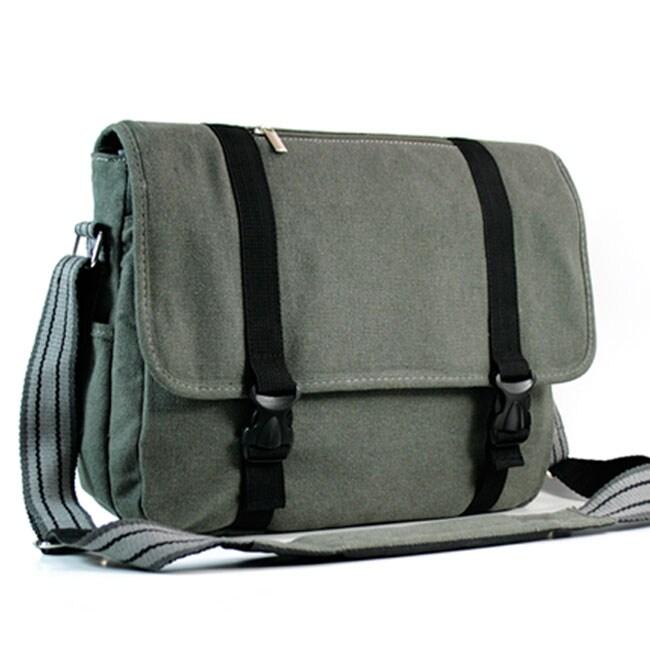 Kroo Canvas 15.6-inch Laptop Messenger Bag