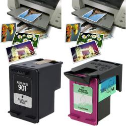 HP901 Ink Cartridge and 40-piece Glossy Photo Paper (Remanufactured)
