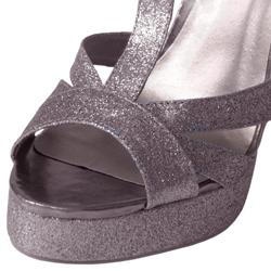Journee Collection Women's 'Gabana-19' T-strap Peep Toe Glitter Pumps