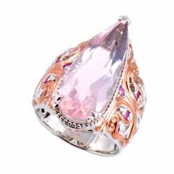 Michael Valitutti Two-tone Rose Quartz and Pink Sapphire Ring