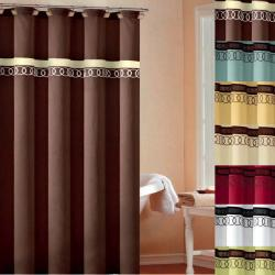 Orbit Embroidered Shower Curtain