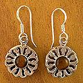 Sterling Silver 'Morning Sun' Tiger's Eye Dangle Earrings (India)