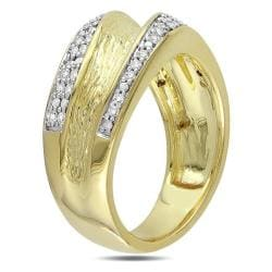 Miadora Yellow-plated Silver 1/4ct TDW Diamond  Ring (G-H, I3)