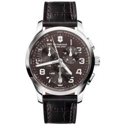 Swiss Army Men's 'Alliance' Chrono Brown Dial Leather Strap