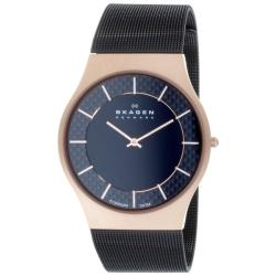 Skagen Men's Rose-goldtone Titanium Watch 