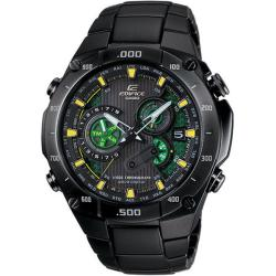 Casio Men's 'Edifice' Black Label Solar Power Atomic Chronograph Watch