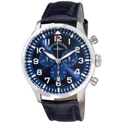 Zeno Men's 'Navigator NG' Blue Strap Quartz Chronograph Watch
