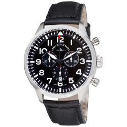 Zeno Men's 'Navigator NG' Black Strap Quartz Chronograph Watch