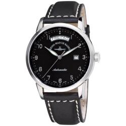 Zeno Men's 'Magellano' Black Strap Automatic Day Date Watch