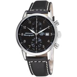 Zeno Men's 'Magellano' Black Strap Automatic Chronograph Watch