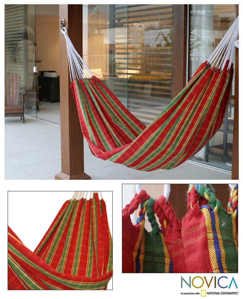 Cotton 'Amazon Slumber' Hammock (Brazil)