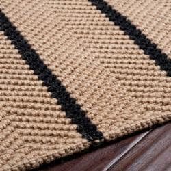 Country Living Hand-Woven Yoki Striped Natural Fiber Jute Rug (8' x 10'6)